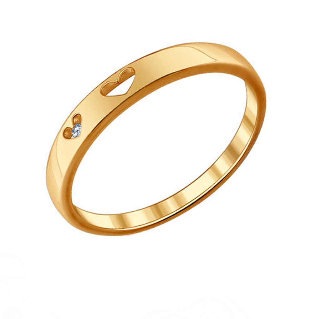 Фото «Серебряное кольцо с фианитами SOKOLOV 93010409»
