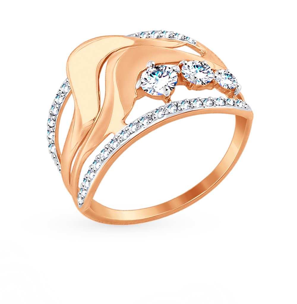 Золотое кольцо с фианитами SOKOLOV 017505* в Екатеринбурге