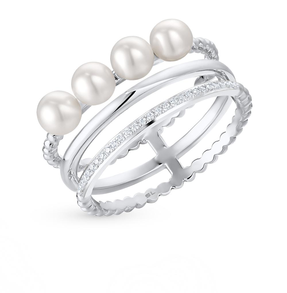 Фото «золотое кольцо с культивированными жемчугами и бриллиантами»