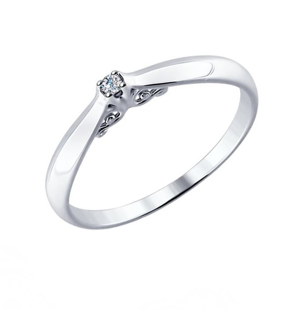 Фото «Серебряное кольцо с бриллиантами SOKOLOV 87010011»