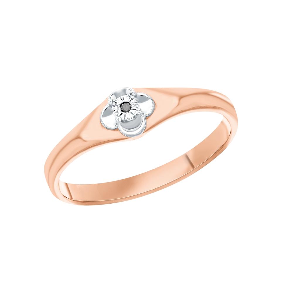 Фото «Серебряное кольцо с чёрными бриллиантами»