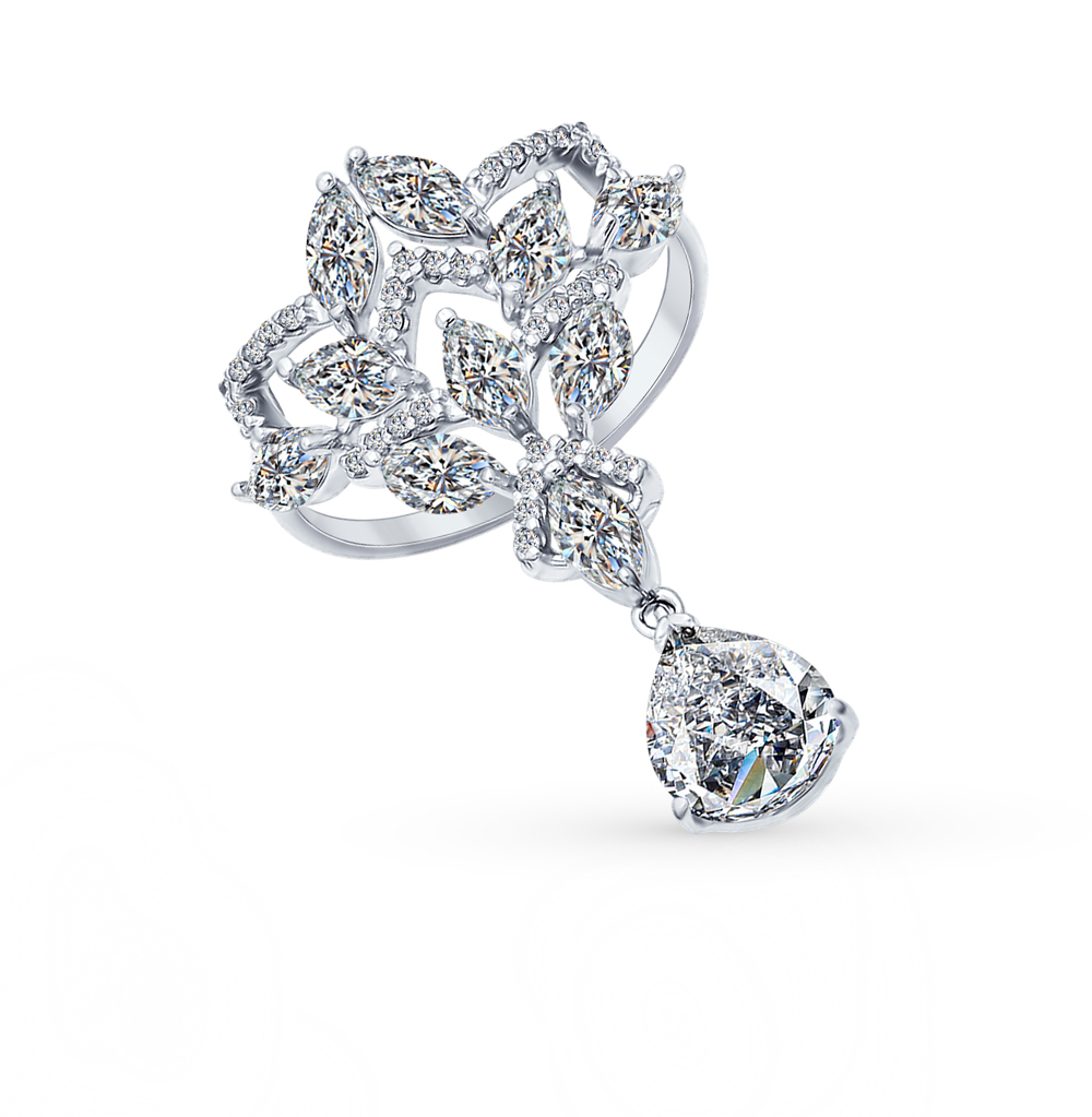 Фото «Серебряное кольцо с фианитами SOKOLOV 94011989»