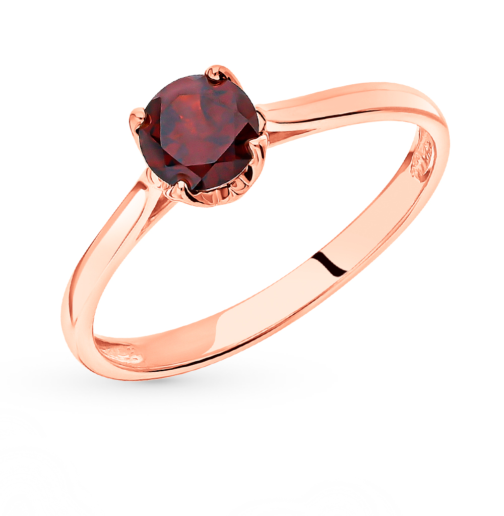 Золотое кольцо с гранатом в Екатеринбурге