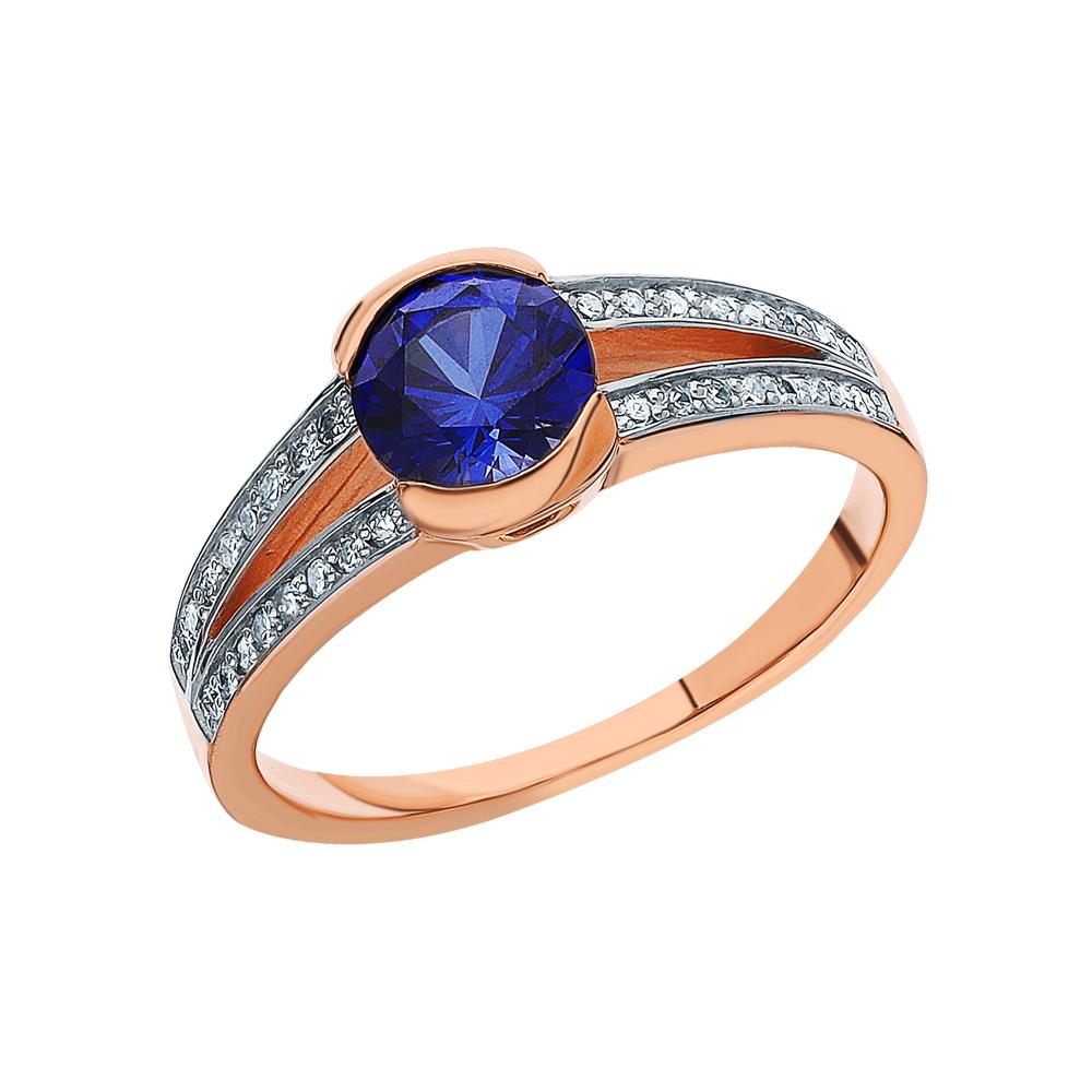 Фото «Золотое кольцо с корундом и бриллиантами»