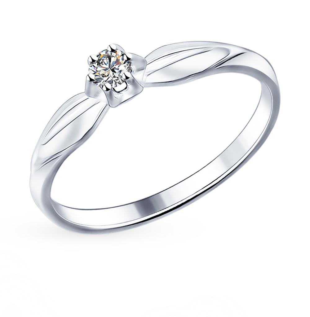 серебряное кольцо с фианитами SOKOLOV 89010017