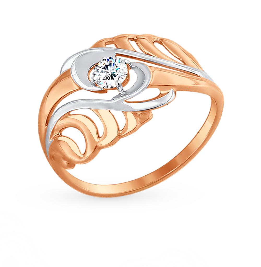 золотое кольцо с фианитами SOKOLOV 017446*
