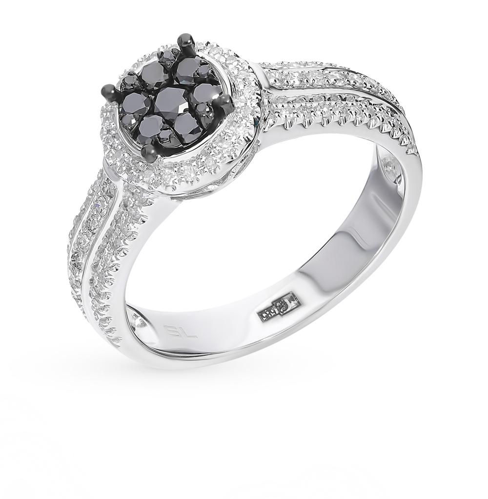 Золотое кольцо с чёрными бриллиантами