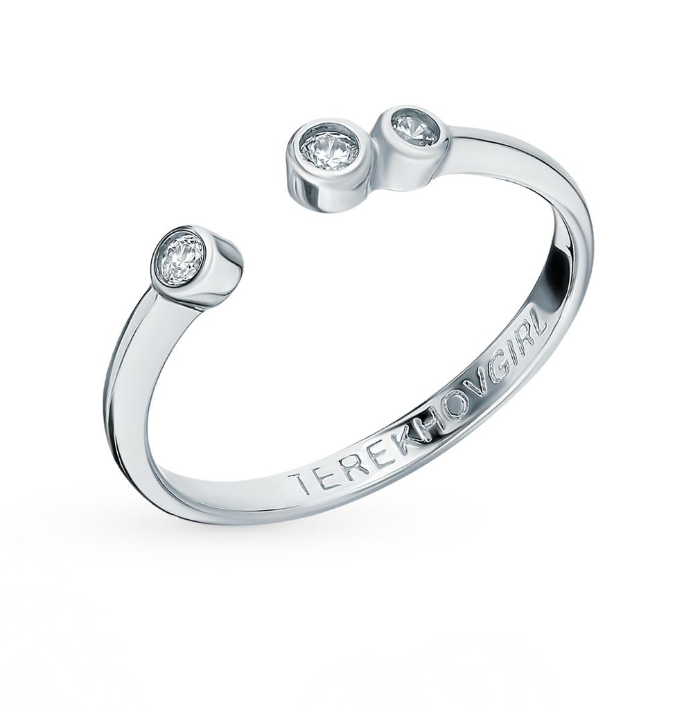 серебряное кольцо с фианитами SOKOLOV 94012652
