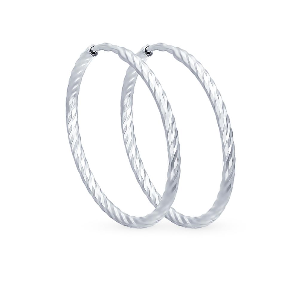 серебряные серьги SOKOLOV 94140017
