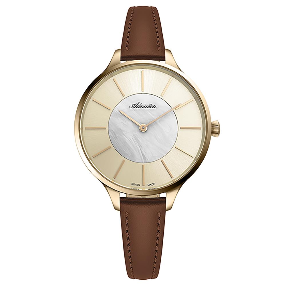 Фото «Женские часы A3633.121SQ на кожаном ремешке с минеральным стеклом»