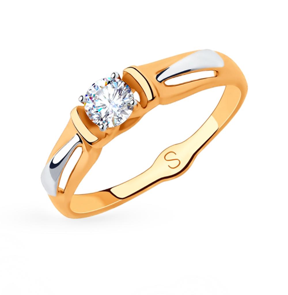 Фото «Золотое кольцо с фианитами SOKOLOV 018289»