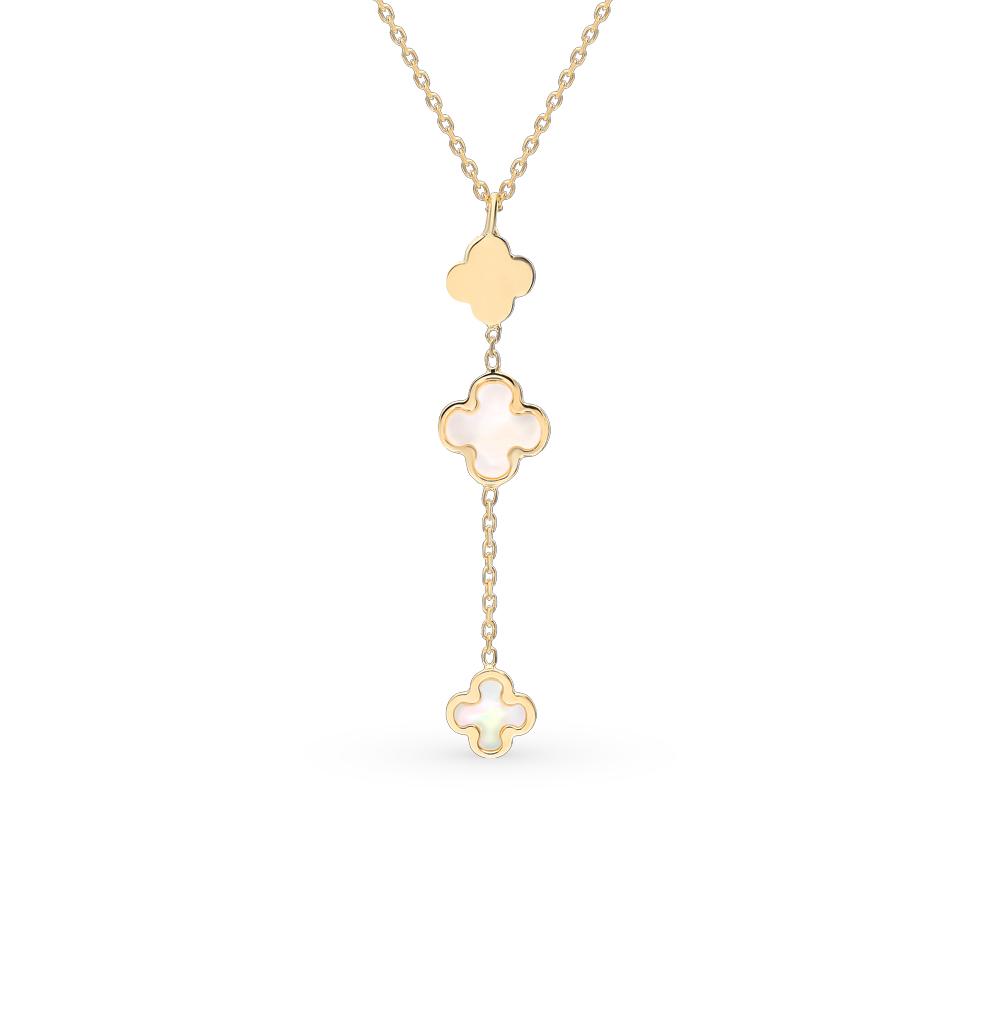 Фото «Золотое шейное украшение с перламутром»