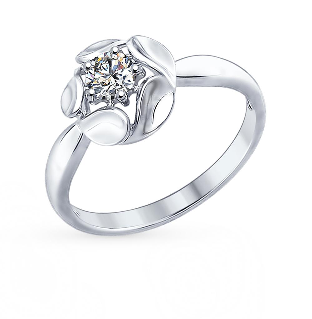 серебряное кольцо с фианитами SOKOLOV 94012295