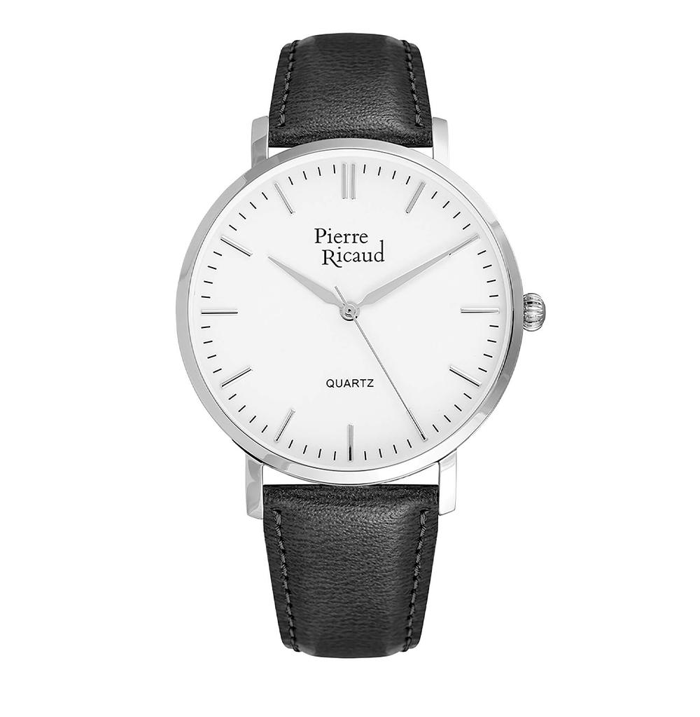 Фото «Мужские кварцевые часы P91074.5213Q на кожаном ремешке с минеральным стеклом»
