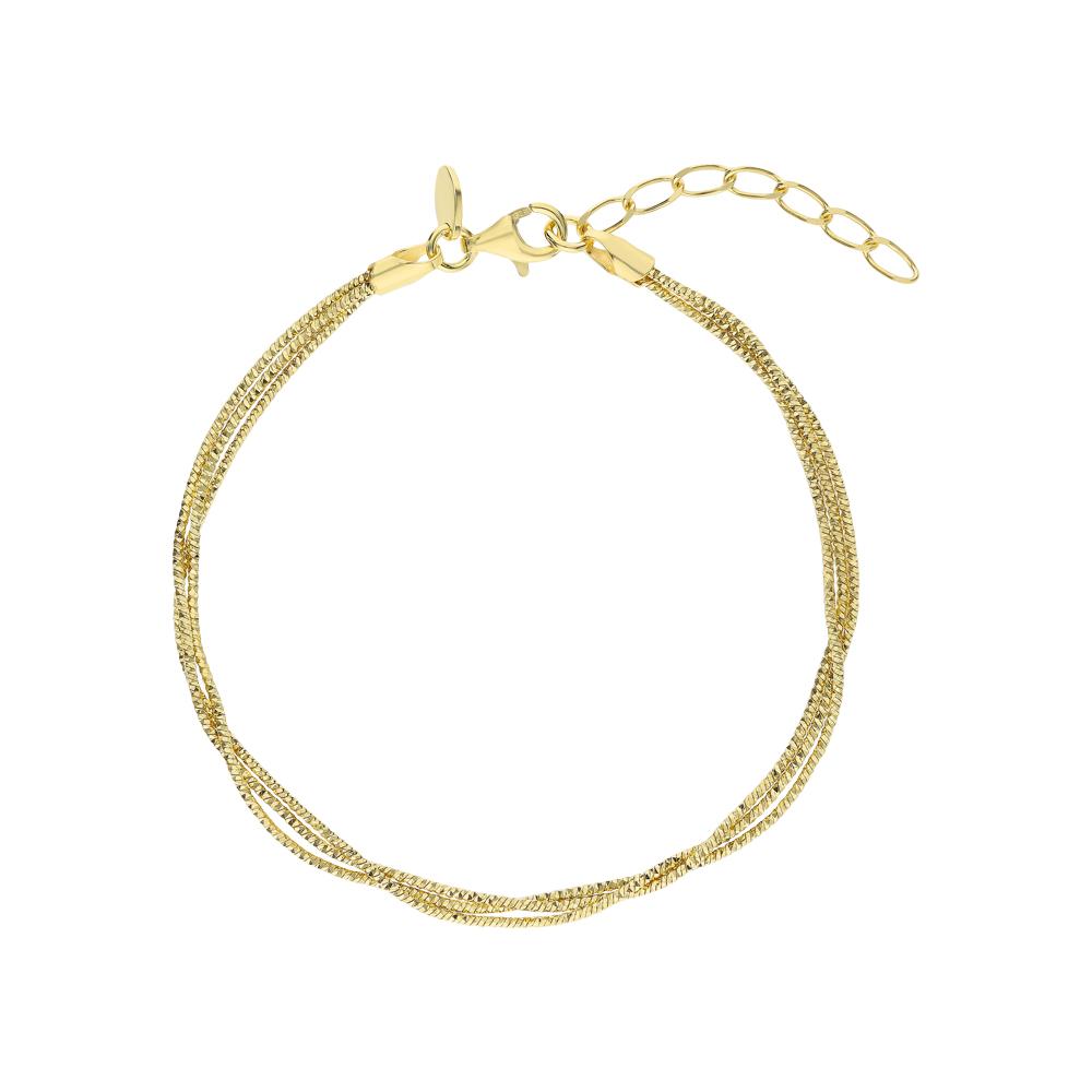 Серебряный браслет CHRYSOS: жёлтое серебро 925 пробы — купить в интернет-магазине SUNLIGHT, фото, артикул 268767