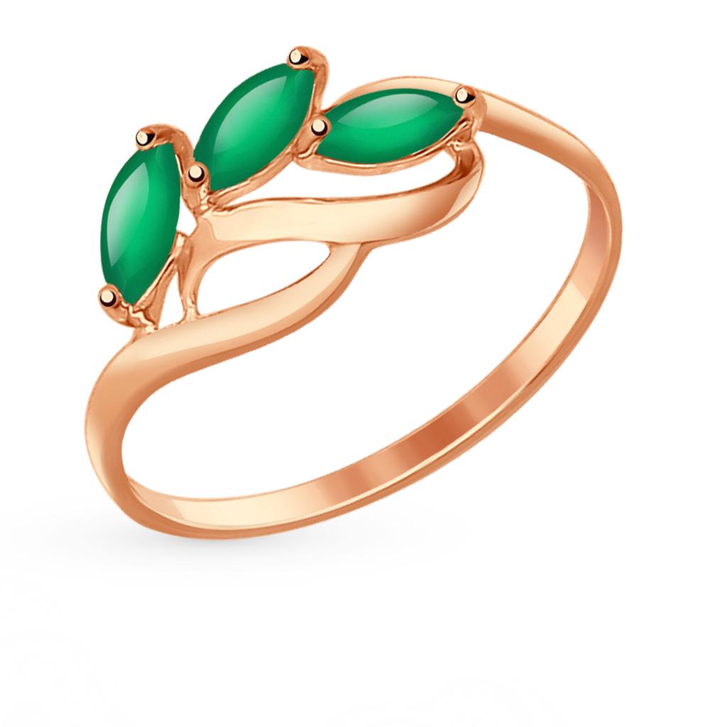 золотое кольцо с агатом SOKOLOV 714606*