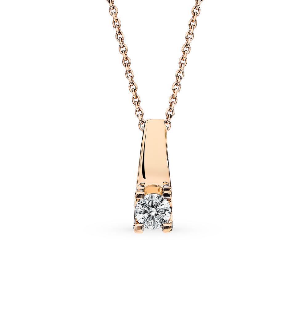 Золотая подвеска с бриллиантом в Екатеринбурге