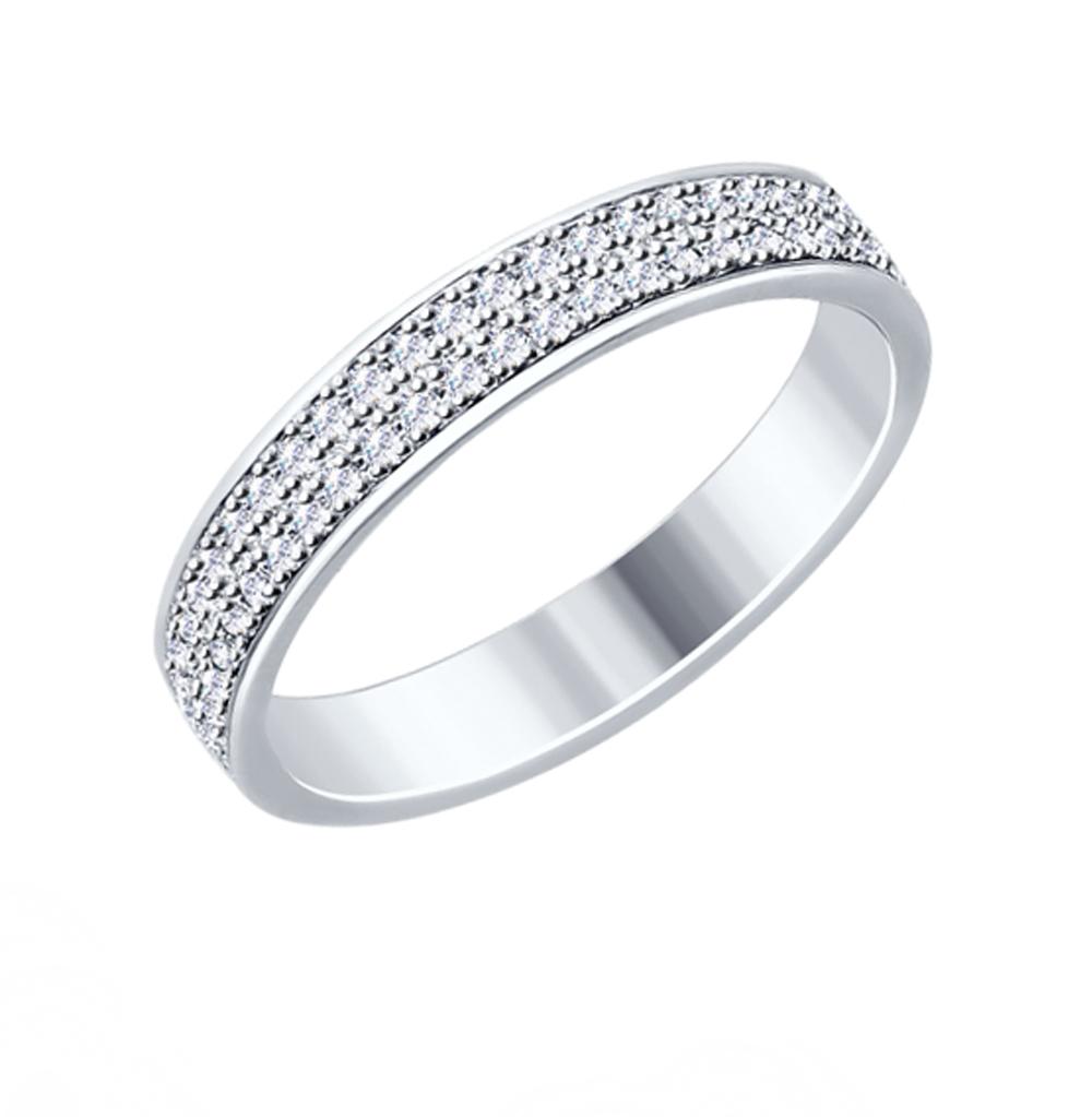 серебряное кольцо с фианитами SOKOLOV 94012529
