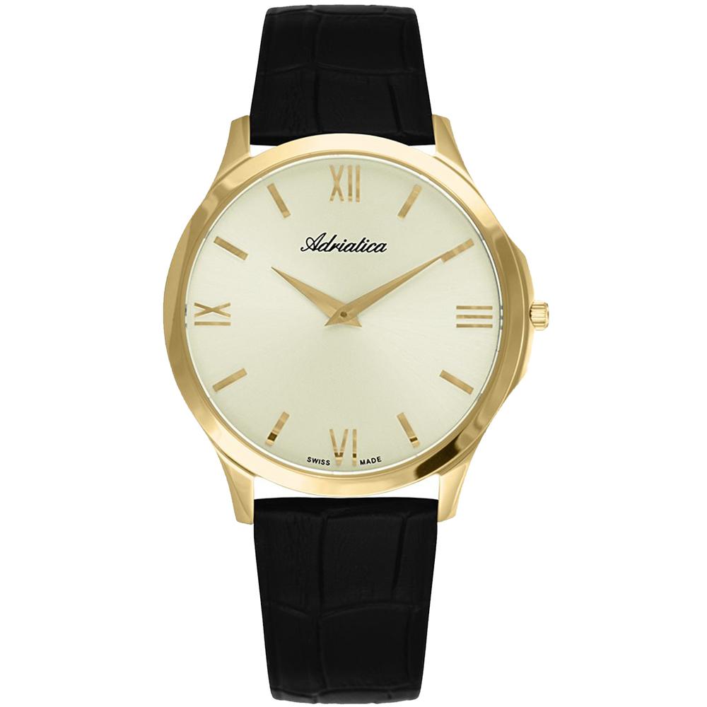 Мужские часы A8241.1261Q на кожаном ремешке с сапфировым стеклом