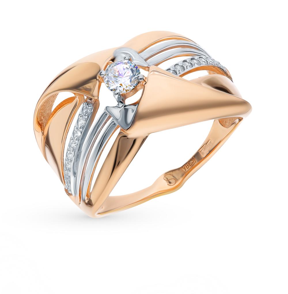 золотое кольцо с фианитами SOKOLOV 017763*