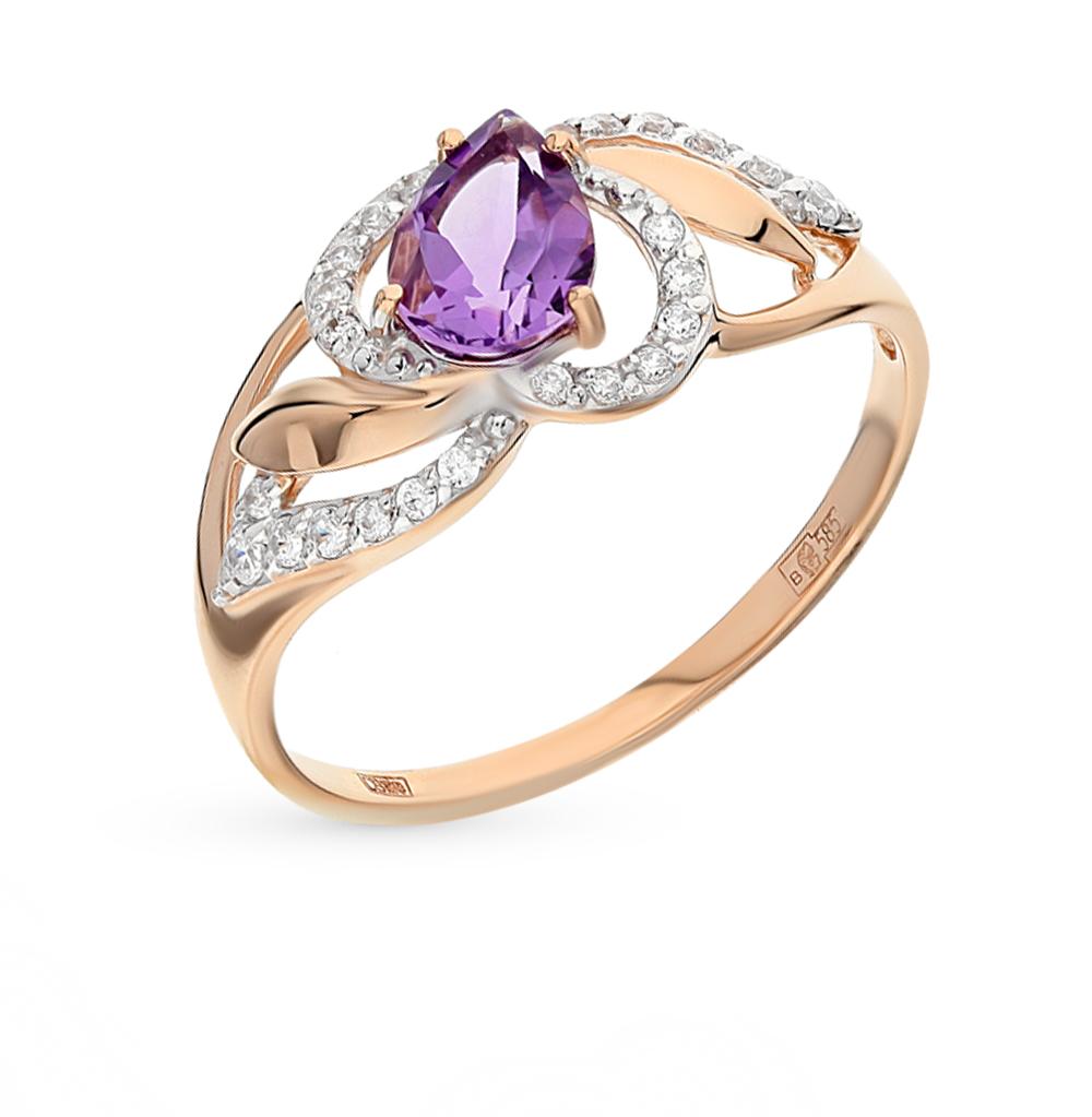 Золотое кольцо с аметистом и фианитами SOKOLOV 714460* в Екатеринбурге
