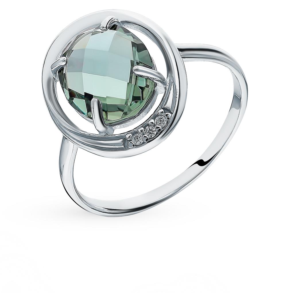 Серебряное кольцо с кварцем и фианитами SOKOLOV 92011799 в Санкт-Петербурге