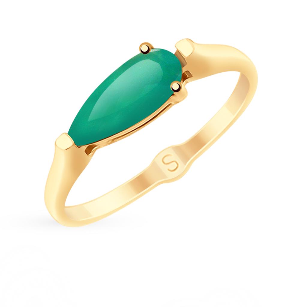 золотое кольцо с агатом SOKOLOV 715257*