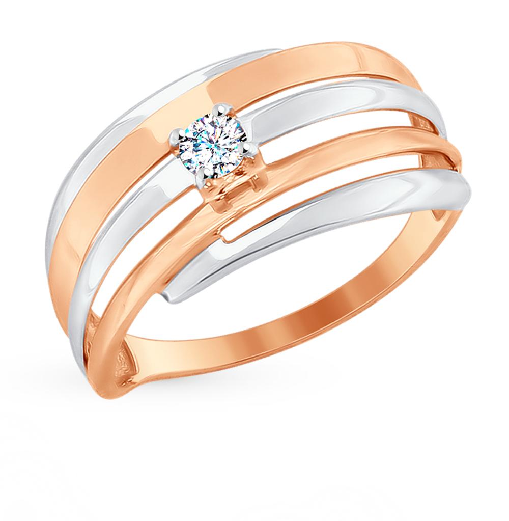 Фото «Золотое кольцо с фианитами SOKOLOV 017670*»