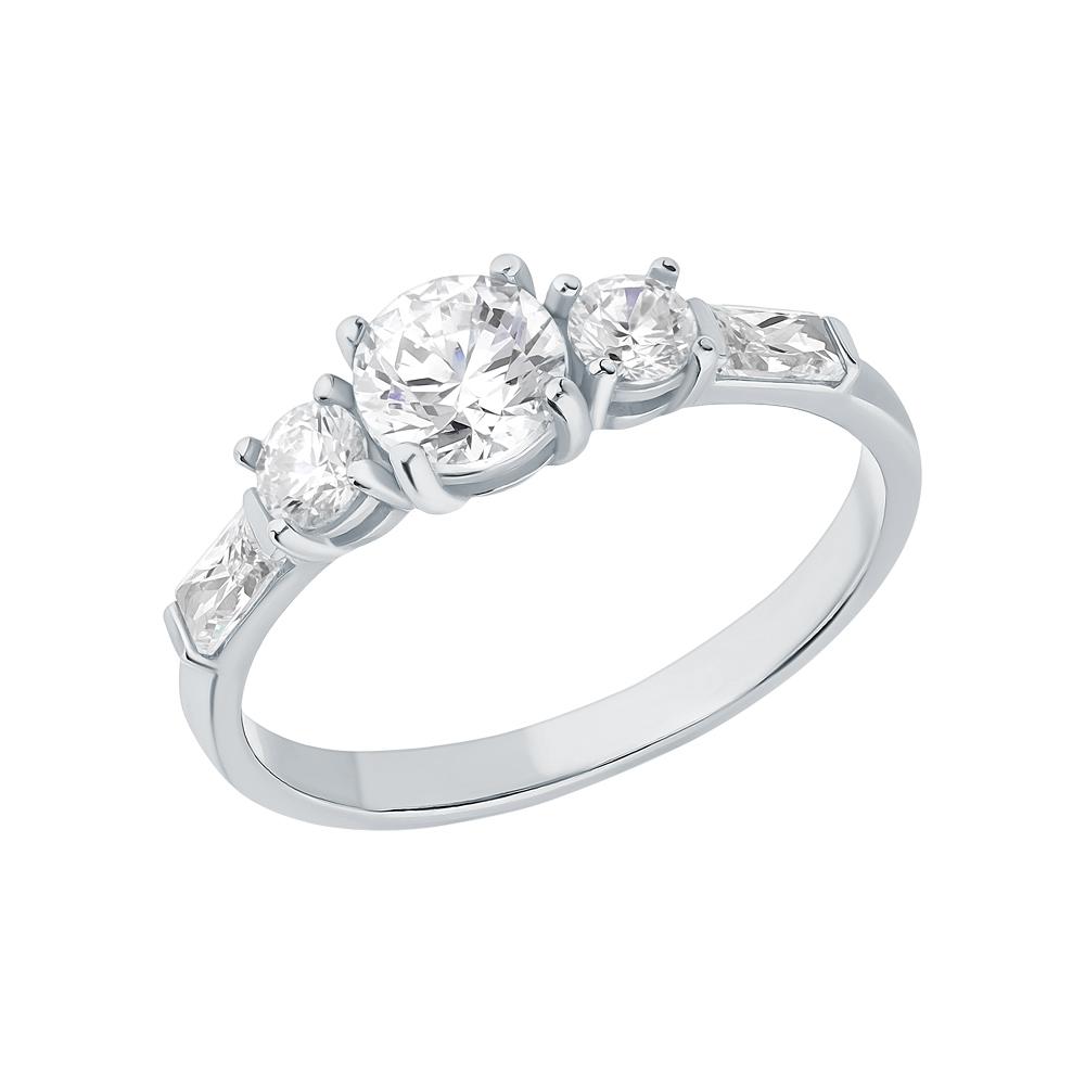 Серебряное кольцо с фианитами swarovski в Екатеринбурге