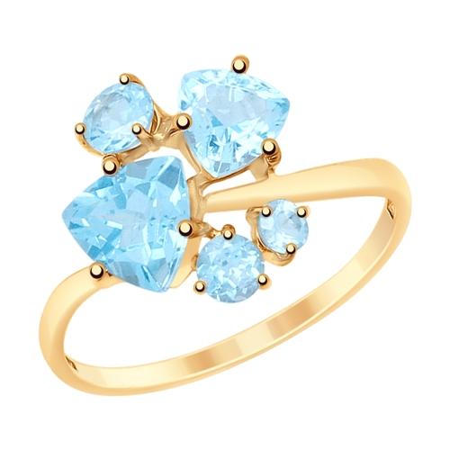 Фото «Золотое кольцо с топазами SOKOLOV 715212*»
