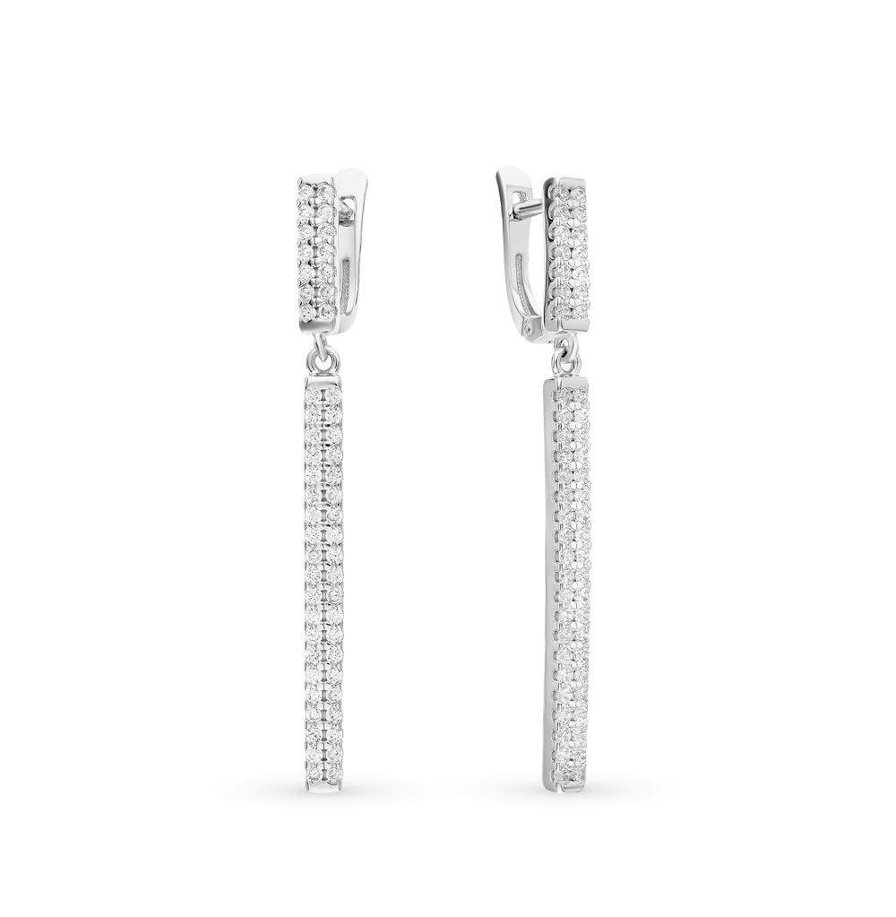 серебряные серьги с фианитами SOKOLOV 94021791
