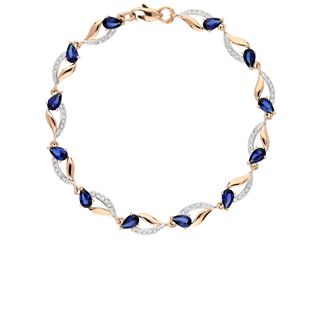 Золотой браслет с корундом SOKOLOV 750233* в Екатеринбурге