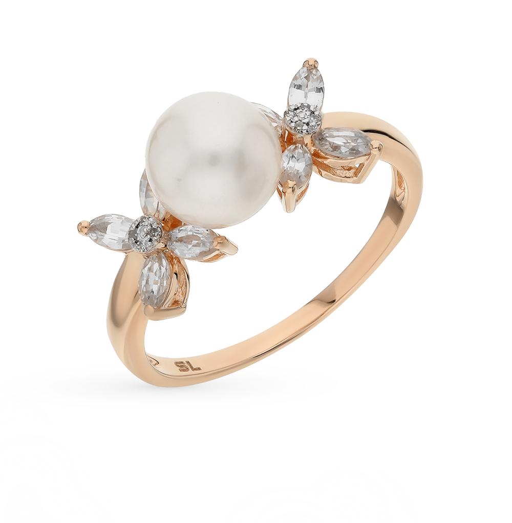 Фото «золото кольцо с сапфирами, жемчугом и бриллиантами»