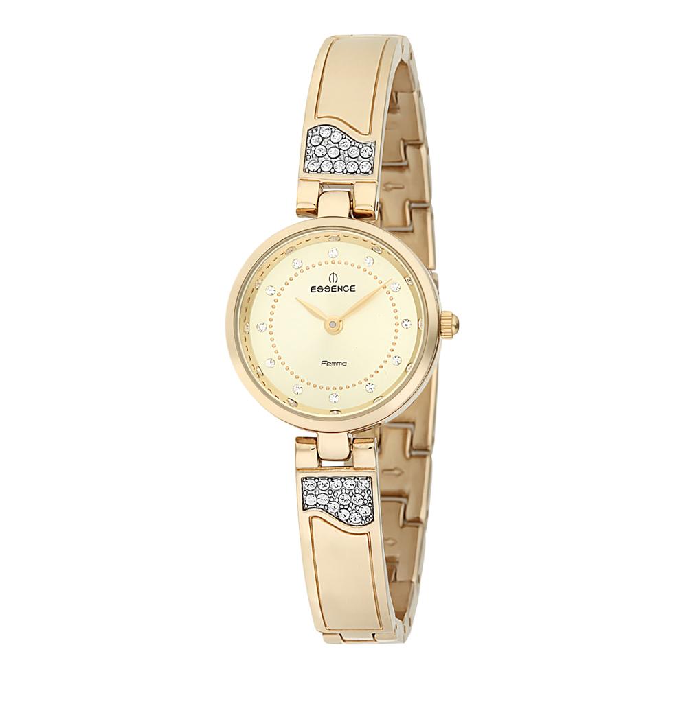 Женские часы D990.110 на стальном браслете с PVD покрытием с минеральным стеклом