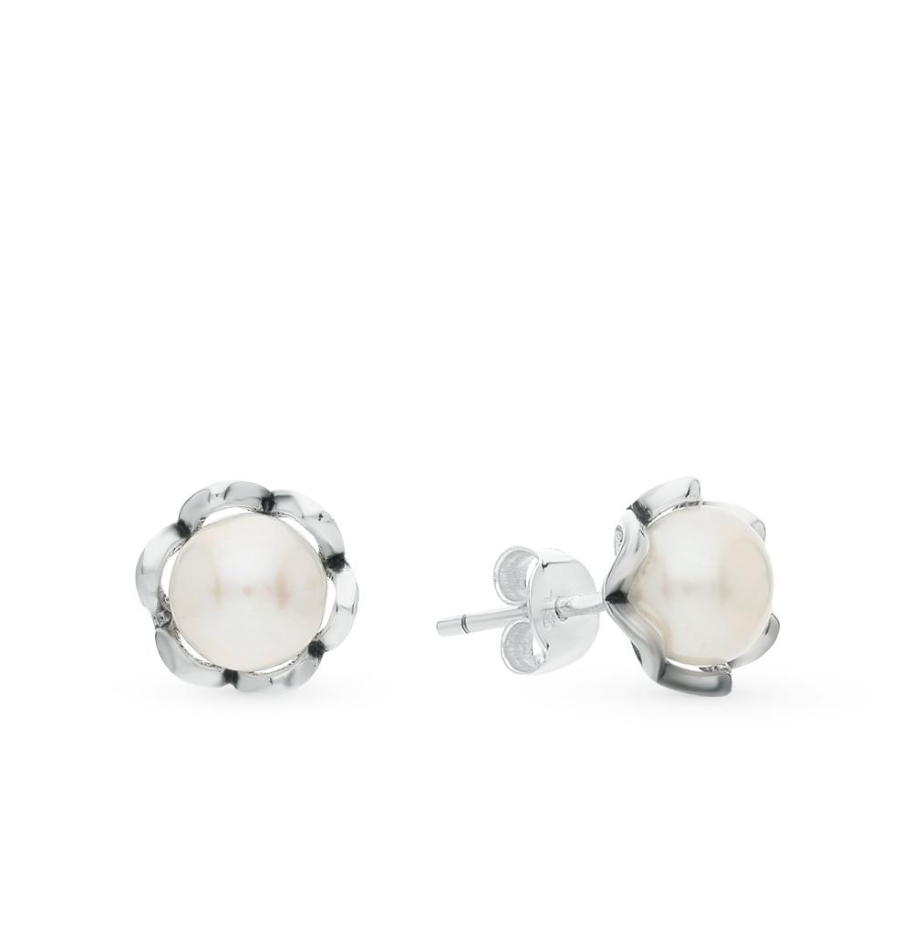 Фото «серебряные серьги с жемчугами культивированными»