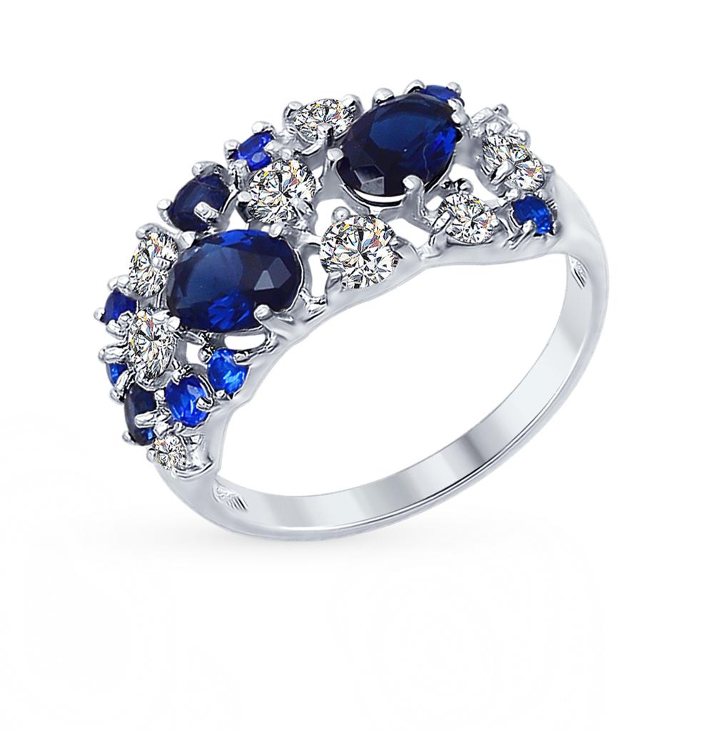 серебряное кольцо с фианитами SOKOLOV 94012300