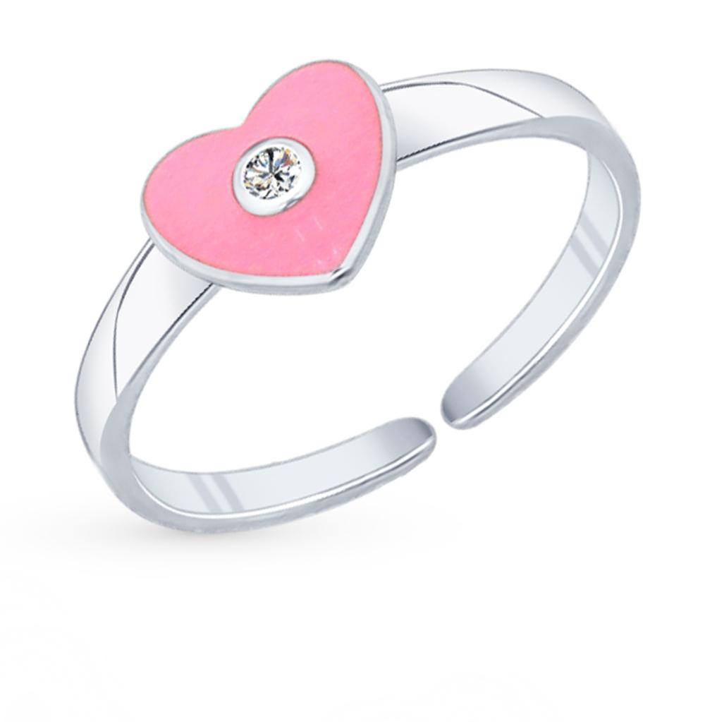 серебряное кольцо с фианитами и эмалью SOKOLOV 94011760