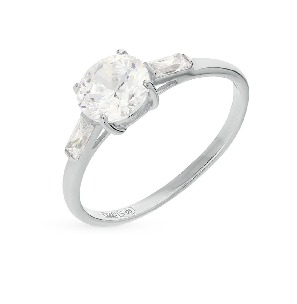серебряное кольцо с фианитами SOKOLOV 89010006
