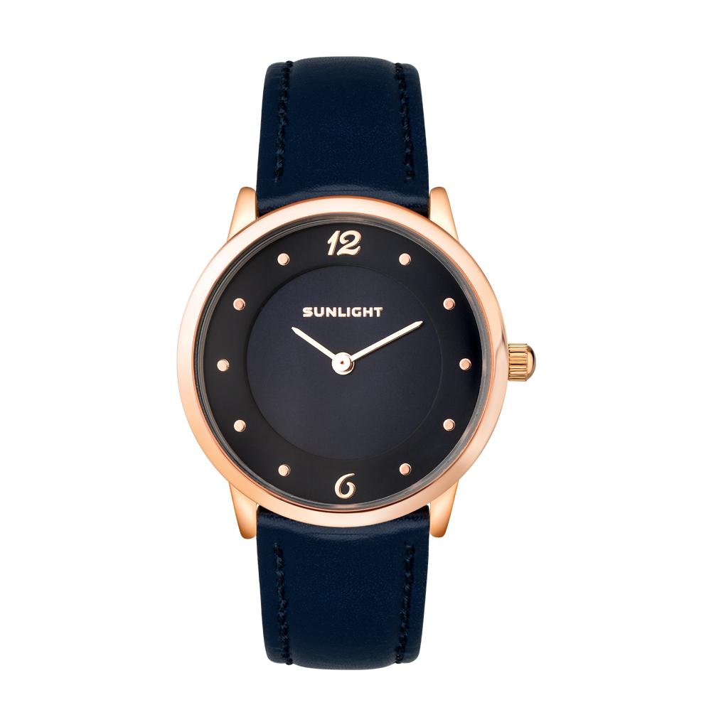 Фото «Тонкие женские часы на кожаном ремне»