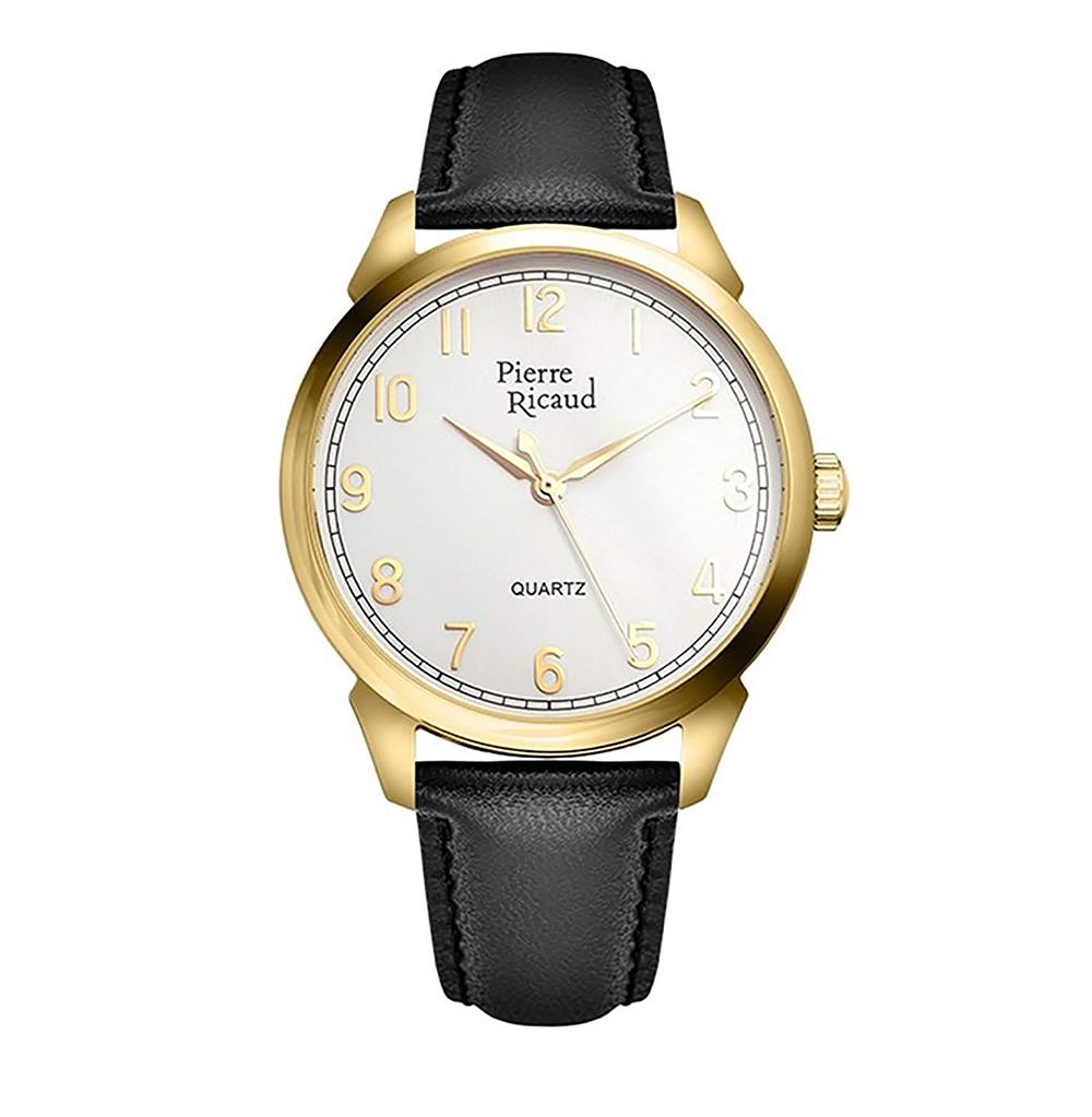 Фото «Мужские кварцевые часы P97228.1223Q на кожаном ремешке с минеральным стеклом»