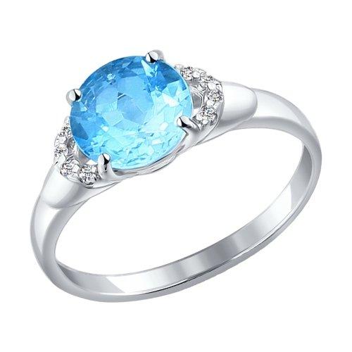 серебряное кольцо с топазами SOKOLOV 92011004