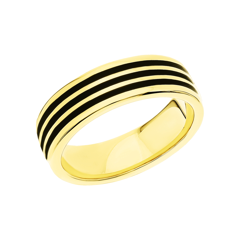 Стальное кольцо с эмалью в Екатеринбурге