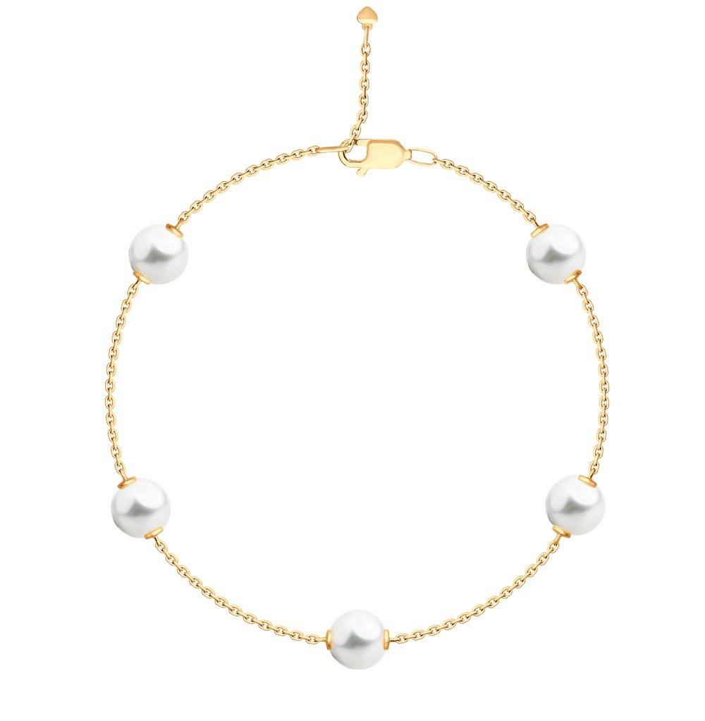 Золотой браслет с жемчугом SOKOLOV 795019* в Санкт-Петербурге
