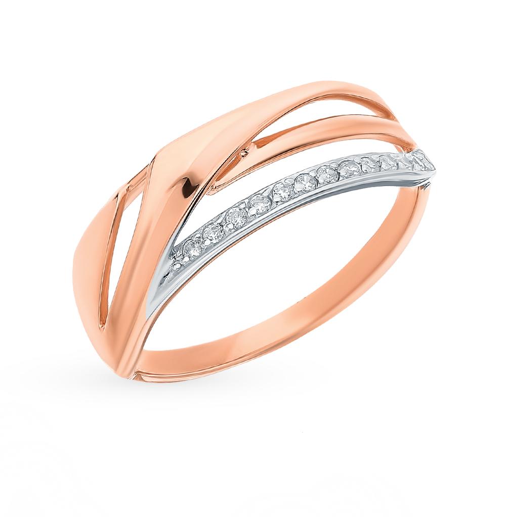 Фото «Золотое кольцо с фианитами SOKOLOV 018234*»