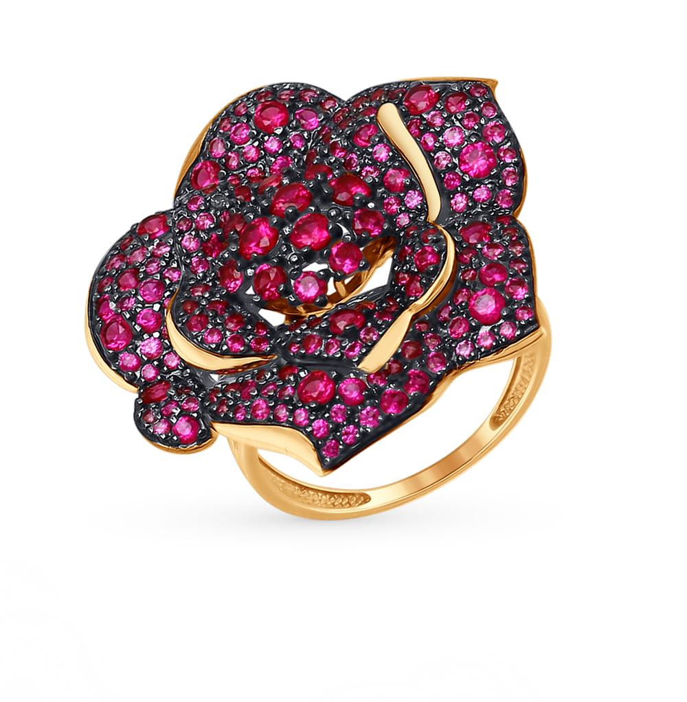 золотое кольцо с фианитами SOKOLOV 017400*