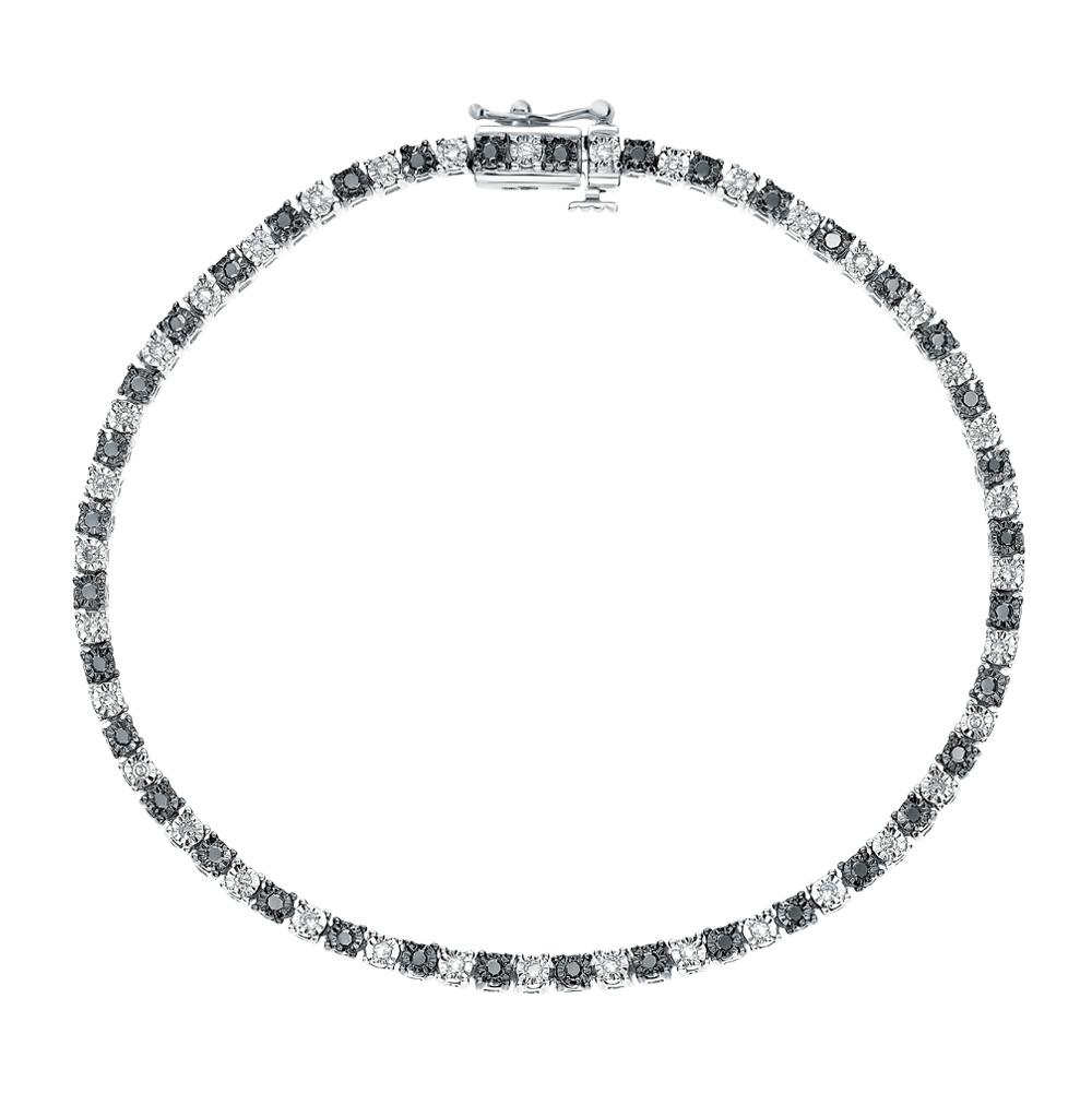 Фото «Золотой браслет с чёрными бриллиантами»