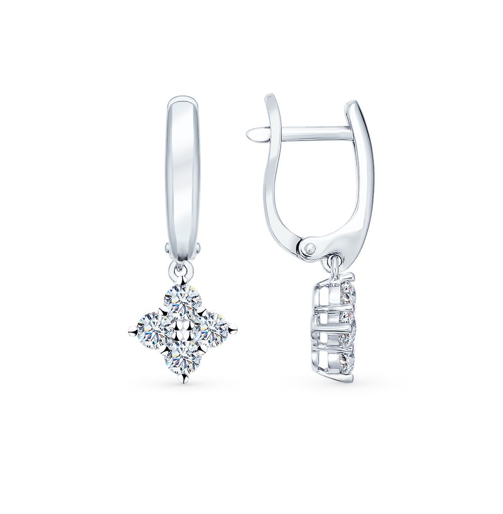 серебряные серьги с фианитами SOKOLOV 94021930