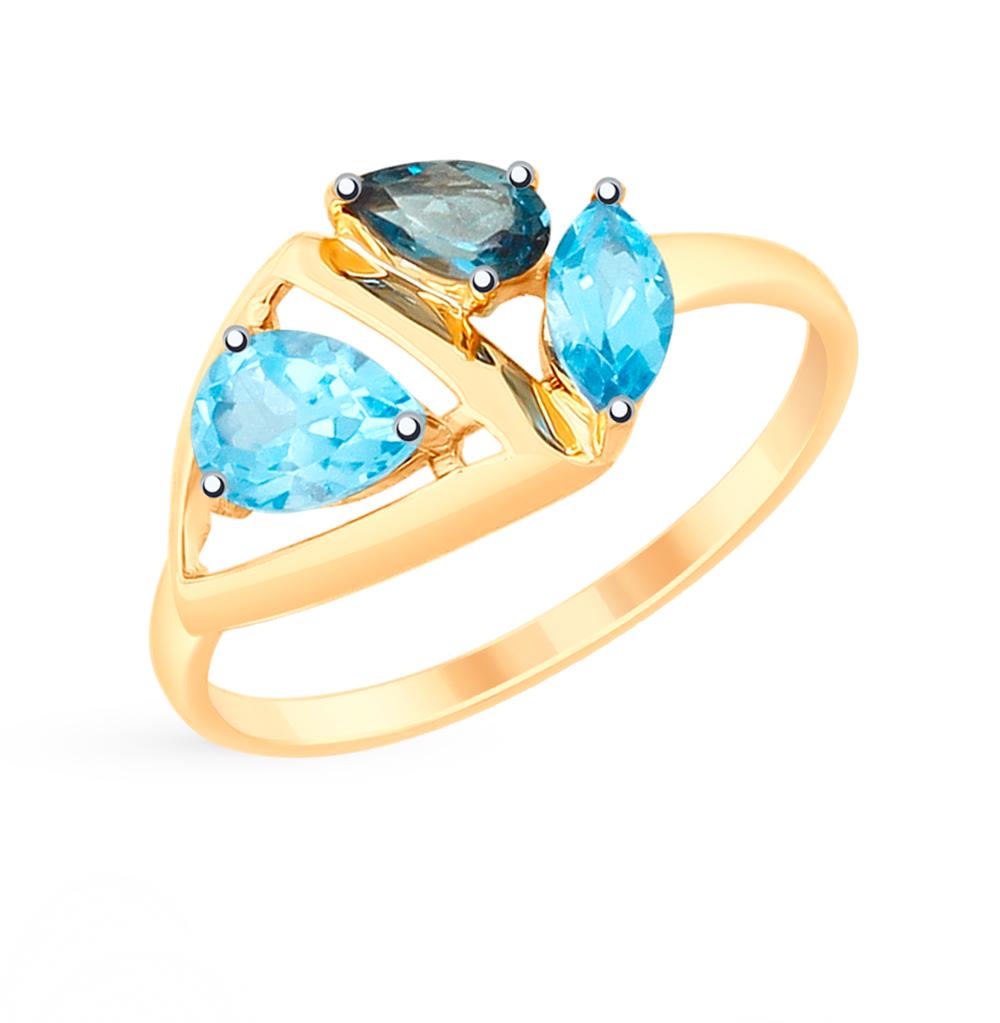Золотое кольцо с топазами SOKOLOV 715233* в Екатеринбурге
