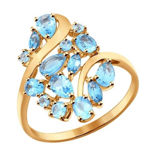 Фото «Золотое кольцо с топазами SOKOLOV 714282*»