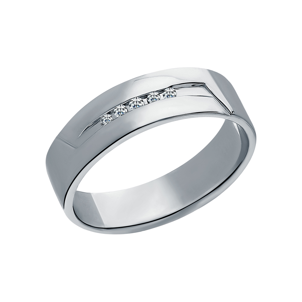 Фото «Золотое обручальное кольцо с бриллиантами»